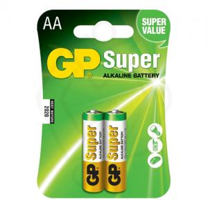 باتری قلمی سایز AA جی پی مدل Super Alkaline بسته 2 عددی