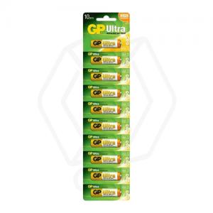 باتری قلمی سایز AA روندا مدل Ultra Plus Alkaline بسته 10 عددی