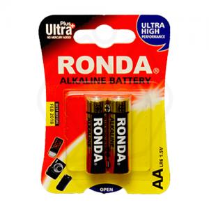 باتری قلمی سایز AA روندا مدل Ultra Plus Alkaline بسته 2 عددی