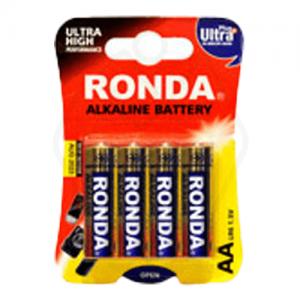 باتری قلمی سایز AA روندا مدل Ultra Plus Alkaline بسته 4 عددی